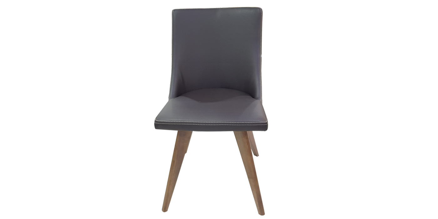 Leather and wooden legs dining room chair - A1458H