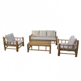 Wood and dark metalic outdoor set - Carribean 305130