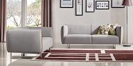 Modern sofa with rectangular metal legs for living room - MB 1661