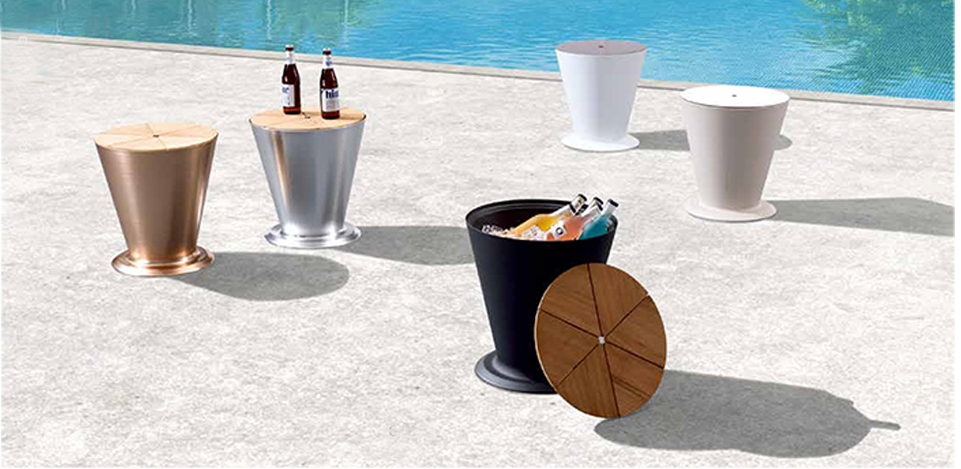 Outdoor aluminum ice bucket - 305894