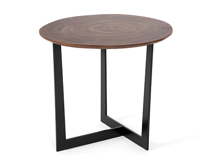 Wooden round side table - CT-355C