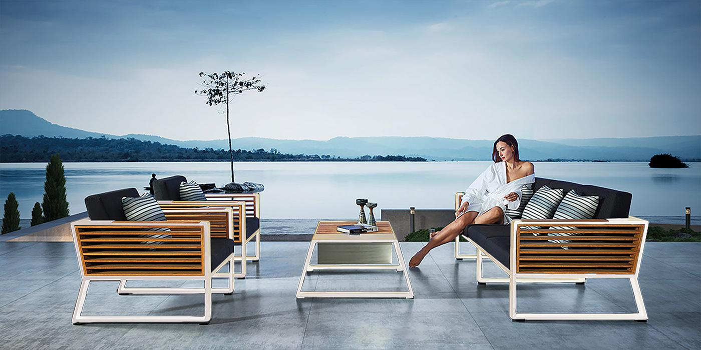 Aluminum modern outdoor Set- NEW YORK