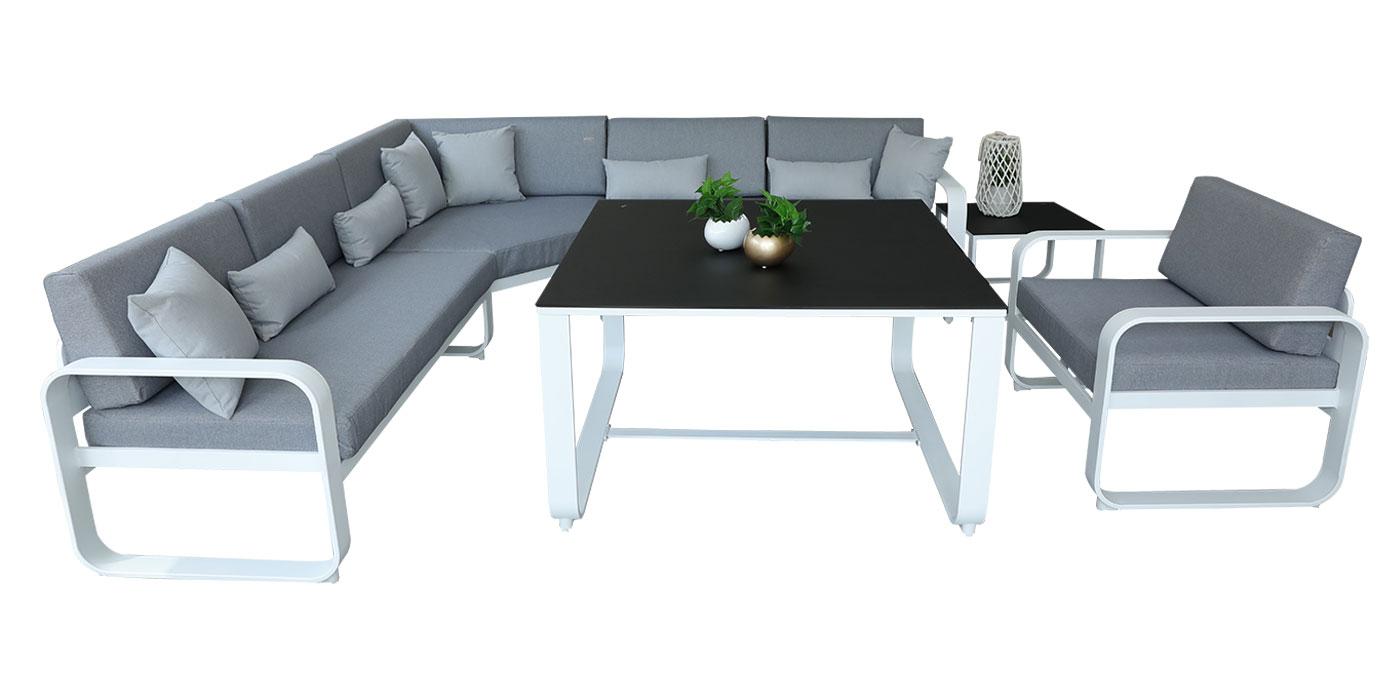 Aluminum and grey outdoor set - Widero