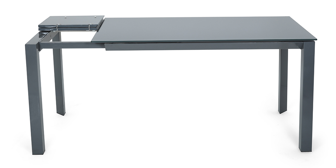 Glass and grey extendable dining room table - DF209T