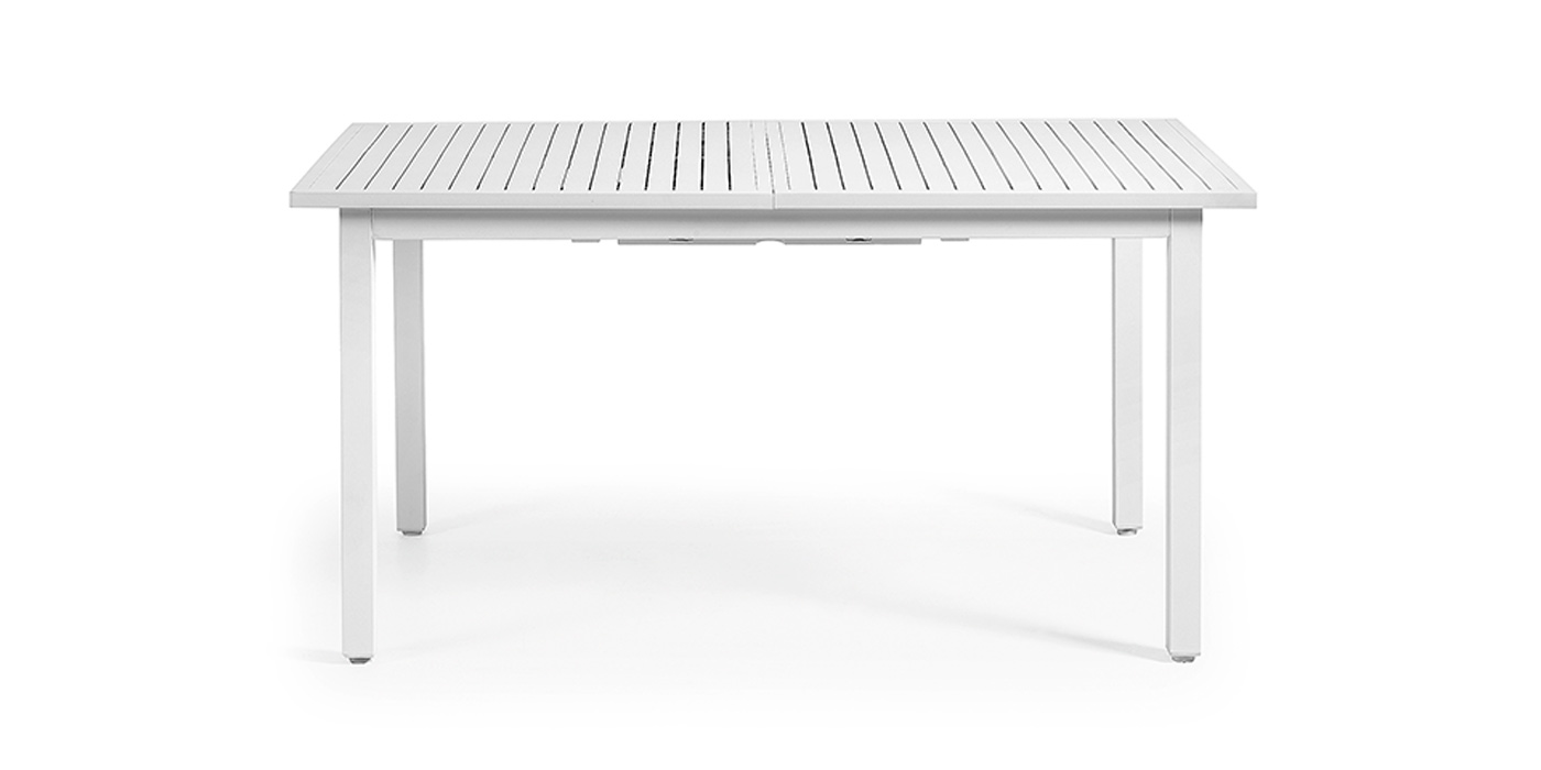 EXTENDABLE TABLE 150(200)X90 ALUMINIUM WHITE - 7400-T