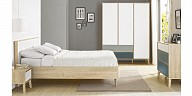 Wood Gami grey master bedroom - Larvik