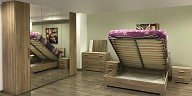 Comfortable wood master bedroom with storage - Rovere Sonor VM60021