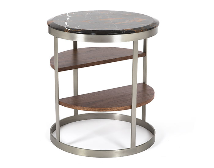 Wooden round side table - CT-358