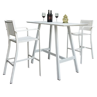Aluminum outdoor bar table - HM3325
