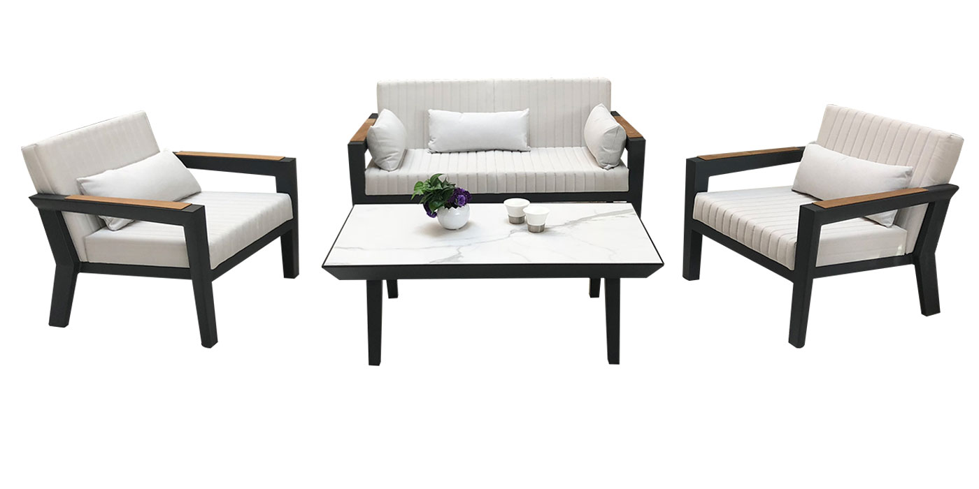 Aluminum and white outdoor set - Champion 204370