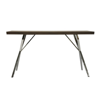 Wood top and steel legs console table - Delphi