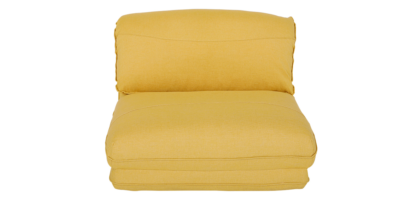 Low level Yellow 1 seater sofa bed