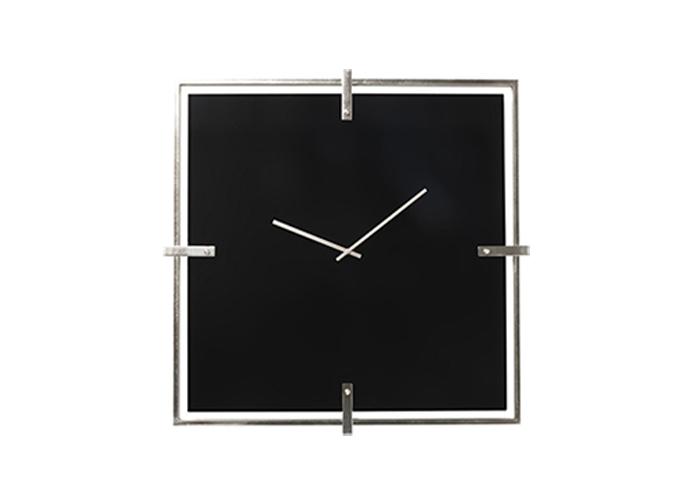 Wall Clock Black Mamba Chrome