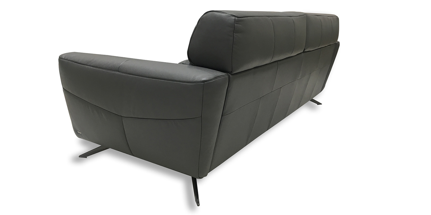 Leather puffy sofa for living room - C013