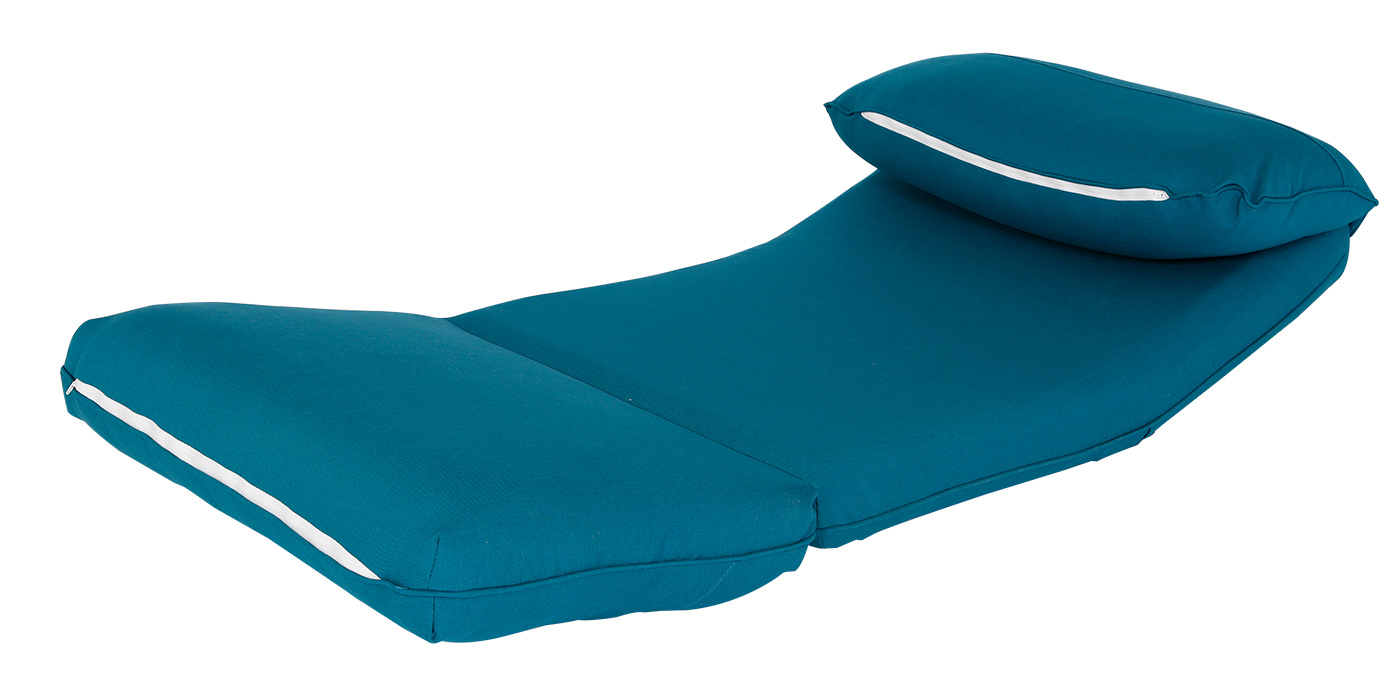 Low level Blue 1 seater sofa bed
